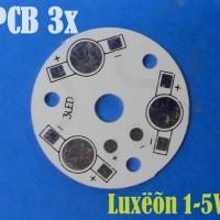 PCB Plate Aluminium LED LUXEON 1-5 Watt 3 Titik Led F35mm in Seri