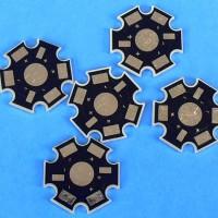 PCB STAR / BINTANG Mini Aluminium Plate F20mm LED HPL LUXEON 1-5 Watt