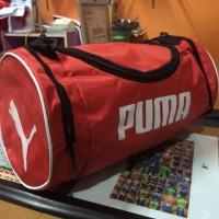 Tas Puma Tabung Merah Selempang (tas sepatu,tas futsal,tas murah,gym)