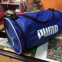 Tas Puma Tabung Biru Selempang (tas sepatu,tas futsal,tas murah,gym)