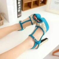 heels blue glitter
