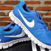 Nike FreeRun Victory Biru Putih(sepatu running,olahraga,kets,lari)