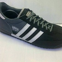 SEPATU CASUAL ADIDAS DRAGON FOR MAN WARNA ABU HITAM