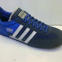 SEPATU CASUAL ADIDAS DRAGON FOR MAN WARNA BIRU HITAM