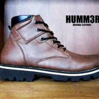 sepatu boot humm3r zeus build up brown / coklat
