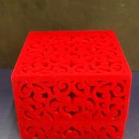 kotak cincin segi empat ukir ( kz310s)