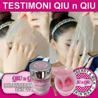 Qiu n Qiu SKin WAX Strawberry PEMUTIH BADAN 100% ORIGINAL ASLI