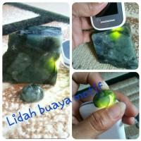 Batu akik Green Tadulako Alian Lidah Buaya