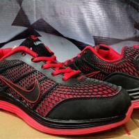 Sepatu Running,Lari,fitnes,Gym,Olahraga Nike Airmax Free Hitam Merah