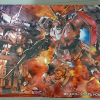 Gumdam Model Kits Unicorn Gundam HD Color +MS CAGE (MG)
