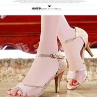 heels glitter gold