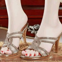 heels gliter gold