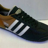 SEPATU CASUAL ADIDAS DRAGON FOR MAN WARNA COKLAT HITAM