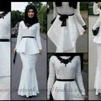 A00563 Maxi Hijab Snow White + Pashmina Bahan Jersey Matt Brukat (Maxi