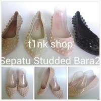 Sandal Sepatu Jelly Studded Bara Bara