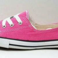 sepatu murah converse tali depan pink+ box
