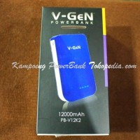 Power Bank Powerbank V-gen, Vgen, V Gen 12.000 12000 mAh Garansi 1 Thn