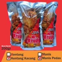 Paket 3 buah Kering Kentang Kacang Manis Pedas / Manis 200gr