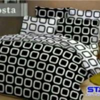 sprei motif costa hitam putih