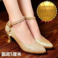 heels glitter gold and silver