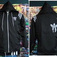 jaket olahraga,sweeter,Jaket Adidas Neo Hitam Parasut