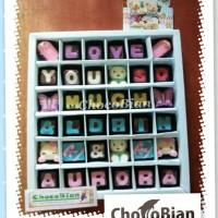 ChocoBian Custom Coklat Tulisan Ucapan Love Kado Anak Hadiah Gift