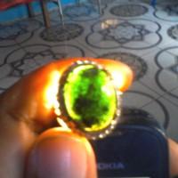 batu akik candel hitam super tembus hijau