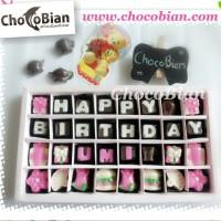 ChocoBian Coklat Praline Ucapan Birthday, Hadiah Gift Kado Ulang Tahun