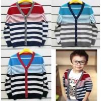 Cardigan Anak Stripe 3 Pilihan Warna - Sweater Jaket Anak