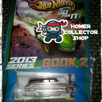 hotwheels 64 CHEVY NOVA STATION WAGON COKLAT PLUS BOOKS