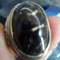 Cincin + batu kalimantan serat kuning