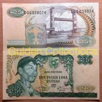 uang kuno 25 rupiah seri pahlawan sudirman tahun 1968 mahar/koleksi !!
