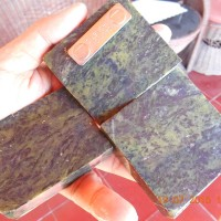 Batu Badar Besi Loreng ijo ,kembang,motif,akik,rough,cincin,bulu heena