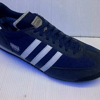 SEPATU CASUAL ADIDAS DRAGON WARNA BIRU NAVY LIST PUTIH