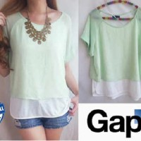 GAP Mint Double Layer Top