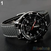 BlueLans Jam Tangan Pria - Hitam - Strap Rubber - Sports Wrist Watch