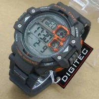 Jam Tangan DIGITEK -3007-Gray Orange Original