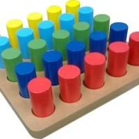 Alat Peraga Anak/Mainan Edukatif/Edukasi/Mainan Anak Papan Pasak