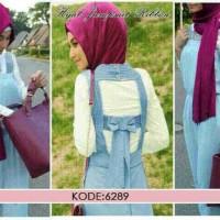 sv6289 hijab jumpsuit ribbon denim blkang kanc 2 buka