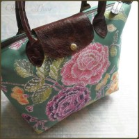 T103:  Tote bag / Shopper Bag Batik Encim Pekalongan & Leather - 625K