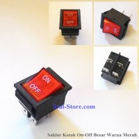 Saklar Switch Kotak On Off Besar 4 Kaki Warna Merah