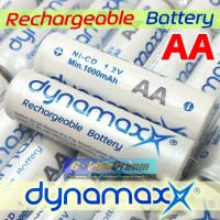 Baterai Cas AA Dynamax 1.2v Rechargeable Ni-Cd Battery Batere Recharge