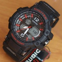 Jam Tangan Digitek 2078T Black list Red Original