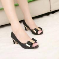 sepatu heel gliter