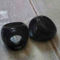 Emban cincin Ring Gagang Akik Terapi Giok Hitam Black Jade