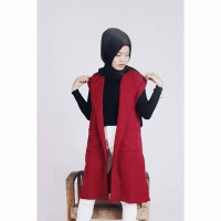 De Outer Red Cardigan/ Vest
