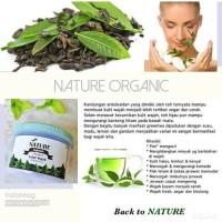 Nature Organic Lulur Wajah Green Tea 250gr