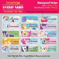 Sticker Label Little Pony - Stiker nama waterproof