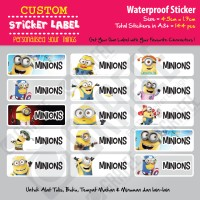 Sticker Label Minions - Stiker nama waterproof