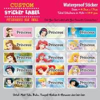 Sticker Label Princess Disney - Stiker nama waterproof